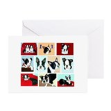 Boston pups Greeting Cards (Pk of 20)