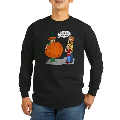 Funny Halloween Long Sleeve Dark T-Shirt