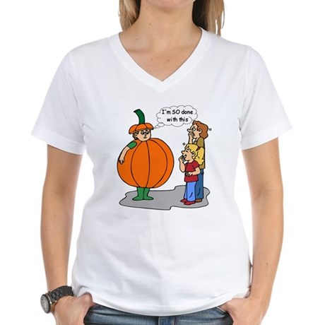 Funny Halloween Women's V-Neck T-Shirt