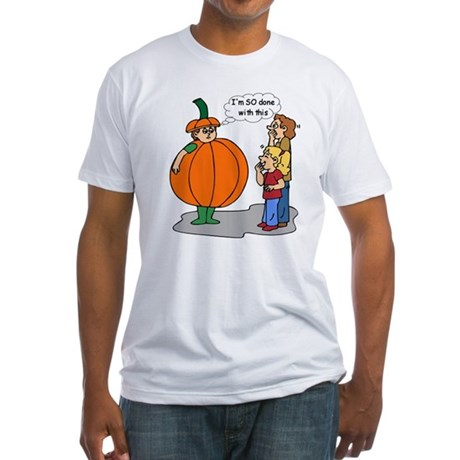 Funny Halloween Fitted T-Shirt