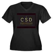 The C S D Women's Plus Size V-Neck Dark T-Shirt