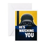 He's Watching You Greeting Cards (Pk of 10)
