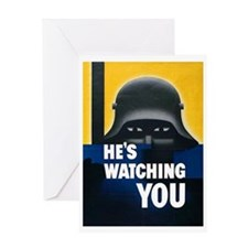 He's Watching You Greeting Card