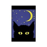 Black Cat Rectangle Magnet (10 pack)