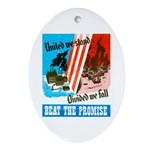United We Stand Oval Ornament