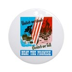 United We Stand Ornament (Round)