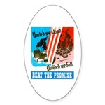 United We Stand Oval Sticker