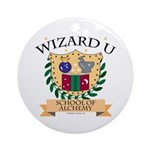 Wizard U Alchemy RPG Gamer HP Ornament (Round)