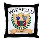 Wizard U Alchemy RPG Gamer HP Throw Pillow