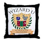 Wizard U Alchemy RPG Gamer HP Throw Pillow
