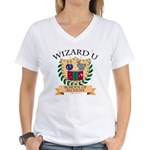 Wizard U Alchemy RPG Gamer HP V-Neck T-shirt