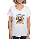 Wizard U Alchemy RPG Gamer HP V-Neck T-shirt