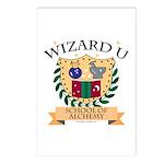 Wizard U Alchemy RPG Gamer HP Postcards 8 Pack