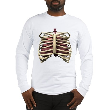 3D Surreal Ribcage Long Sleeve T-Shirt