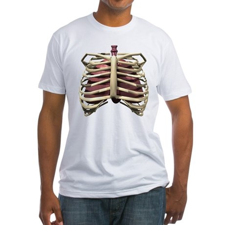 3D Surreal Ribcage Fitted T-Shirt