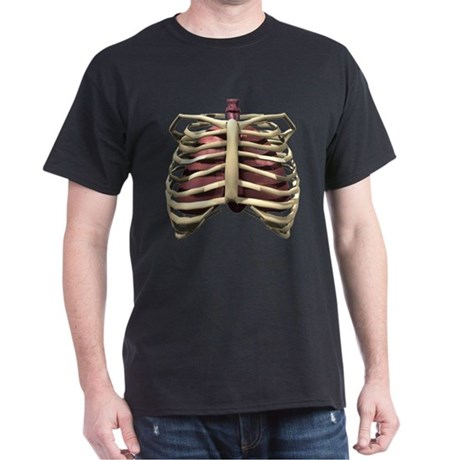 3D Surreal Ribcage Dark T-Shirt