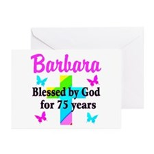 BLESSED 75 YR OLD Greeting Cards (Pk of 10)