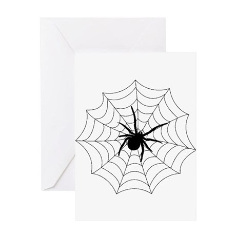 Spider Web Greeting Card