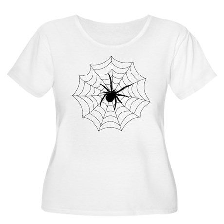 Spider Web Women's Plus Size Scoop Neck T-Shirt