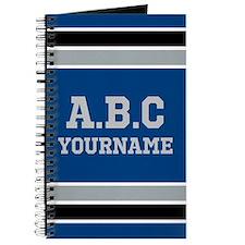 Blue Black Sports Jersey Stripes Personali Journal