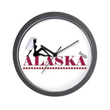 Alaska Bride Wall Clock