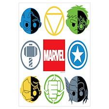Chibi Avengers Stylized Icons Wall Art