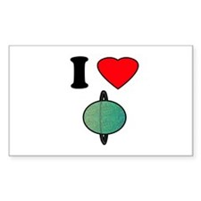 I HEART URANUS Rectangle Decal