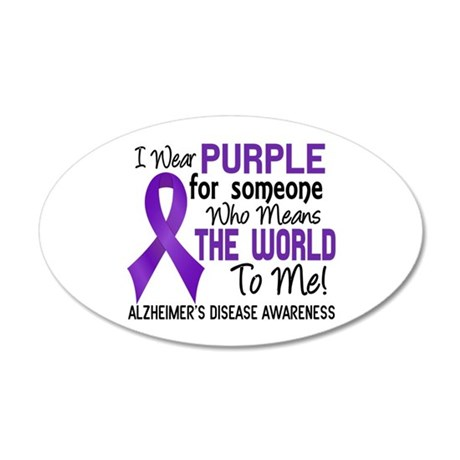 Alzheimer's MeansWorldToMe2 20x12 Oval Wall Decal