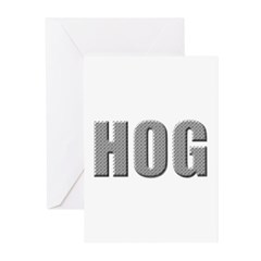 Motorcycle Hog Greeting Cards (Pk of 10)