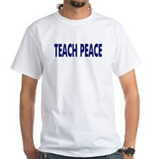 Teach Peace Shirt - blue