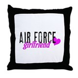 Air Force girlfriend Throw Pillow