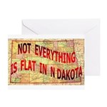Flat N Dakota Greeting Card
