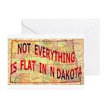 Flat N Dakota Greeting Cards (Pk of 20)