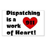 Dispatching Heart Rectangle Decal