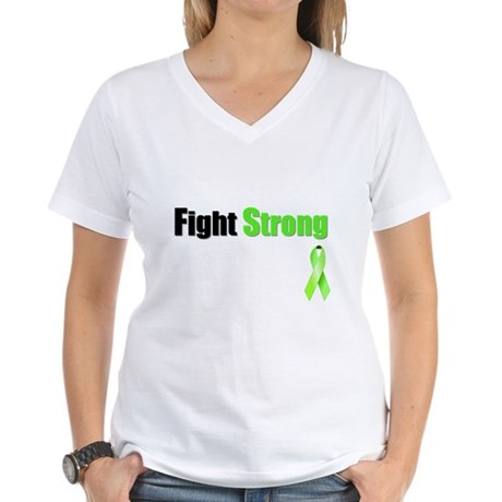 Fight Strong Women's V-Neck T-Shirt