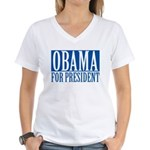 obama01 Women's V-Neck T-Shirt