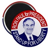 "Old Skool Ron Paul Button 2.25"" Magnet (100 pack)"