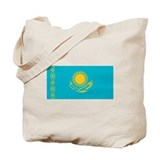 Kazakhstani Flag Tote Bag