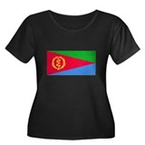 Eritrean Flag Women's Plus Size Scoop Neck Dark T-