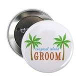 Groom Tropical Wedding Button