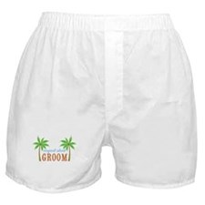 Groom Tropical Wedding Boxer Shorts