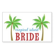 Bride Tropical Island Rectangle Decal