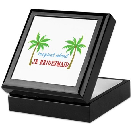 Jr Bridesmaid Tropical Wedding Keepsake Box