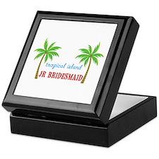 Jr Bridesmaid Tropical Wedding Keepsake Box