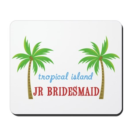 Jr Bridesmaid Tropical Wedding Mousepad