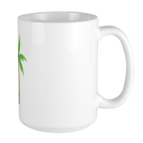 Jr Bridesmaid Tropical Wedding Large Mug