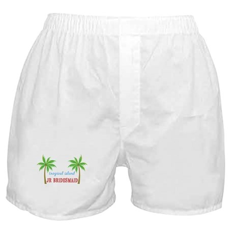 Jr Bridesmaid Tropical Wedding Boxer Shorts