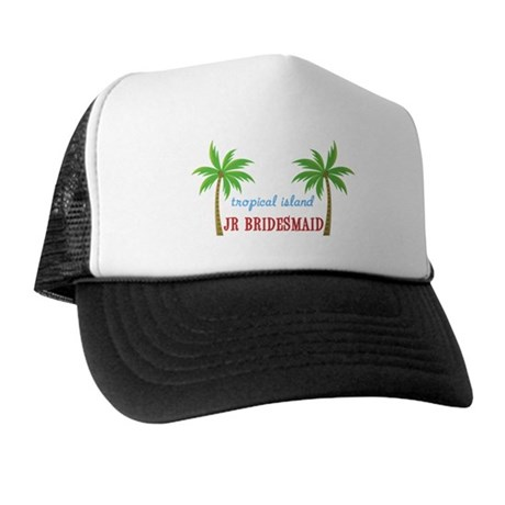 Jr Bridesmaid Tropical Wedding Trucker Hat