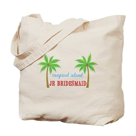 Jr Bridesmaid Tropical Wedding Tote Bag