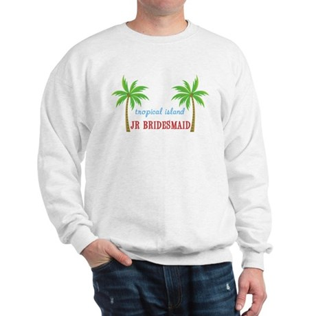 Jr Bridesmaid Tropical Wedding Sweatshirt